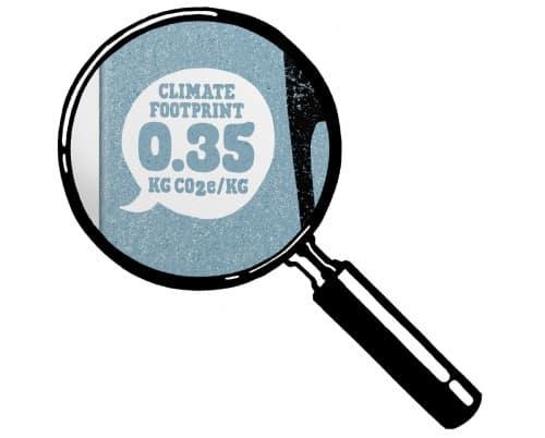 오틀리 패키지에 표기된 탄소 배출량,  Image from Oatly