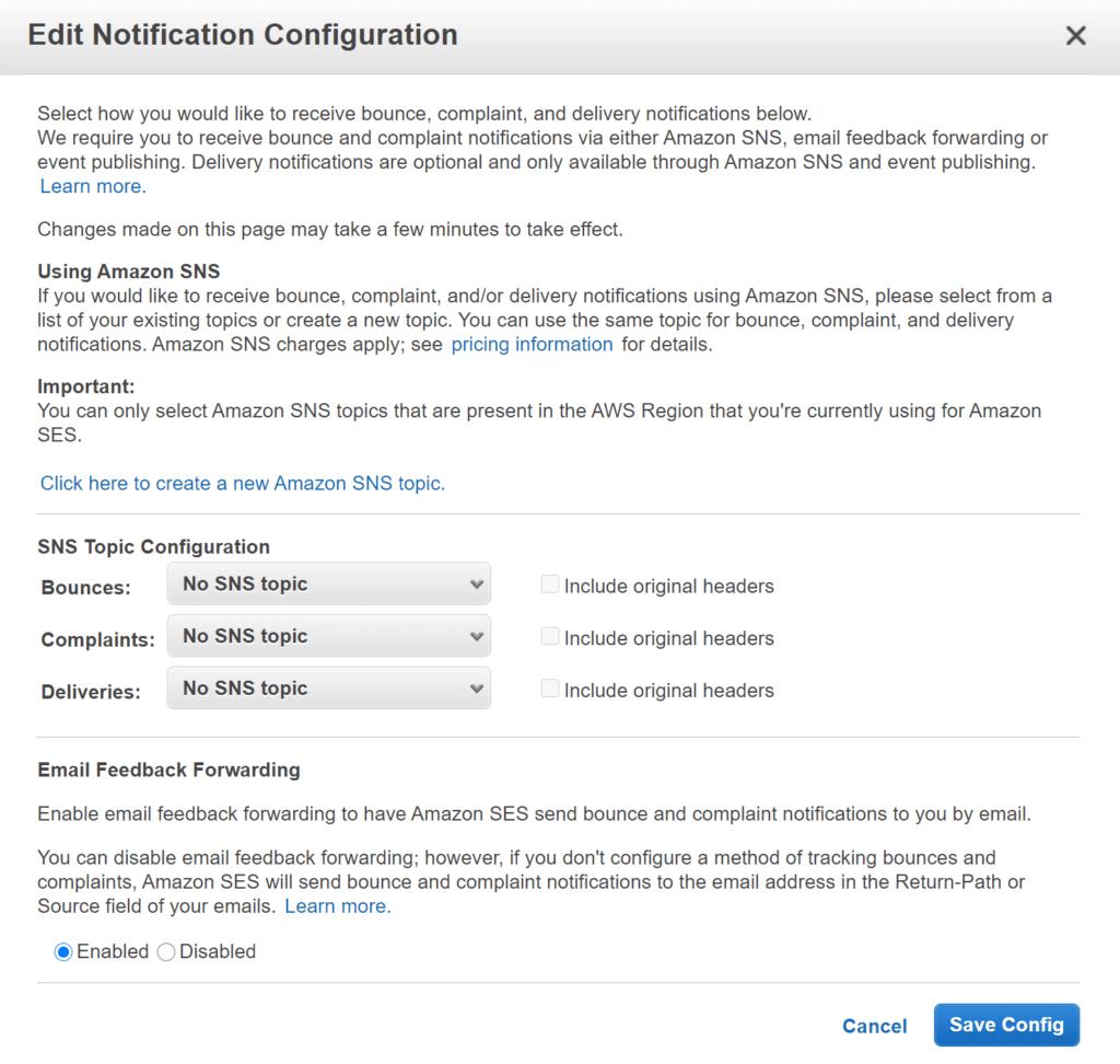 아마존 이메일 서비스, Amazon SES 설정 방법 4