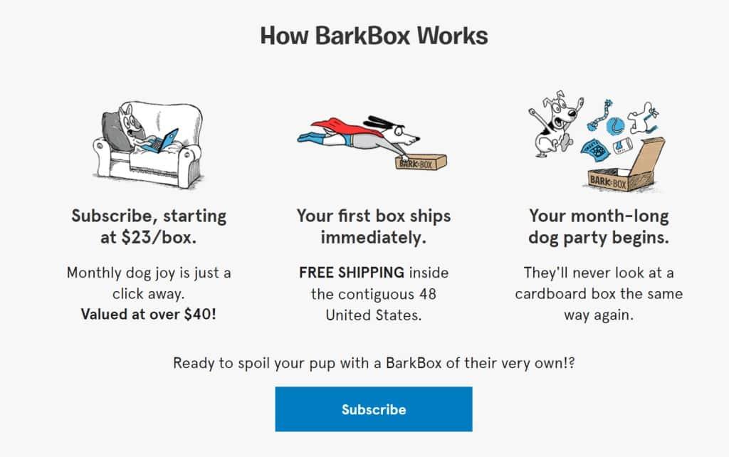 펫 용품 구독 서비스 바크박스(BarkBox) 비즈니스 모델 설명, Image from BarkBox