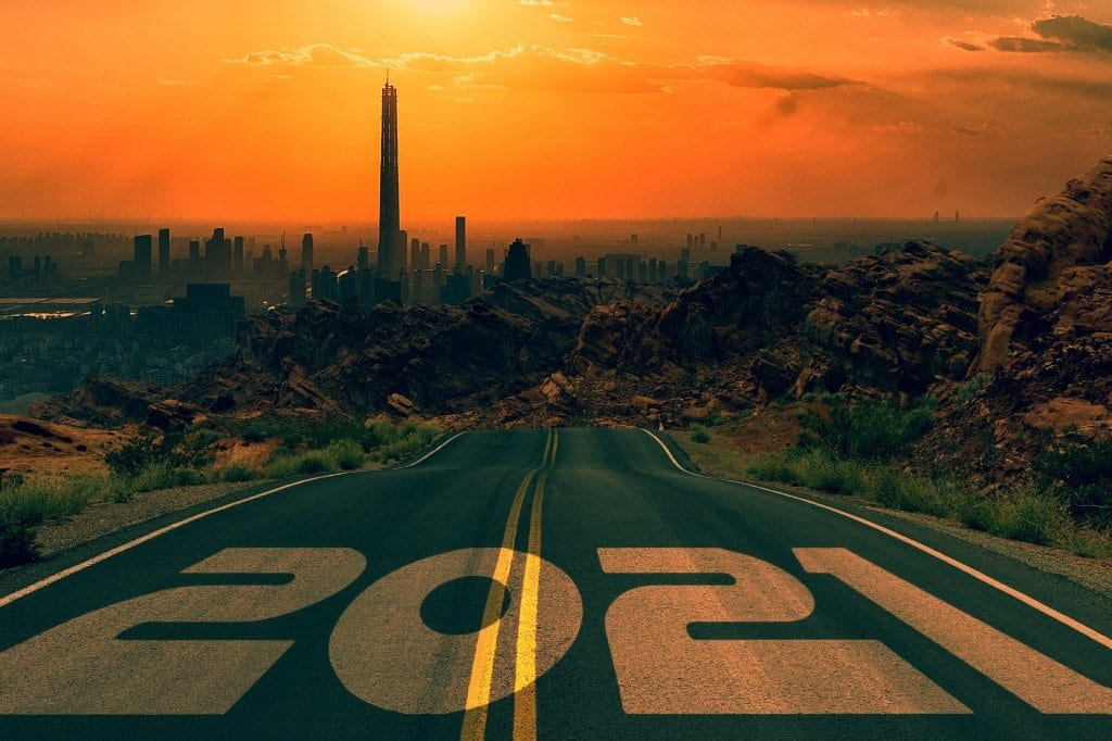 Happy new Year 2021 20.21년 전망, road, Photo by Gerd Altmann
