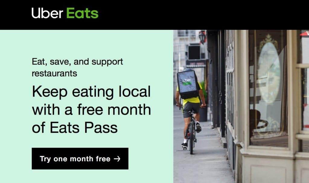 우버이츠 패스, Uber Eats Pass, Image from Uber