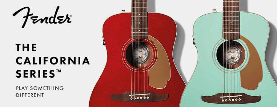 펜더가 2018년 젊은 여성을 겨냥해 출시한 저가 기타 라인업 캘리포니아 시리즈 기타(California Series Guitar),  Image from fender