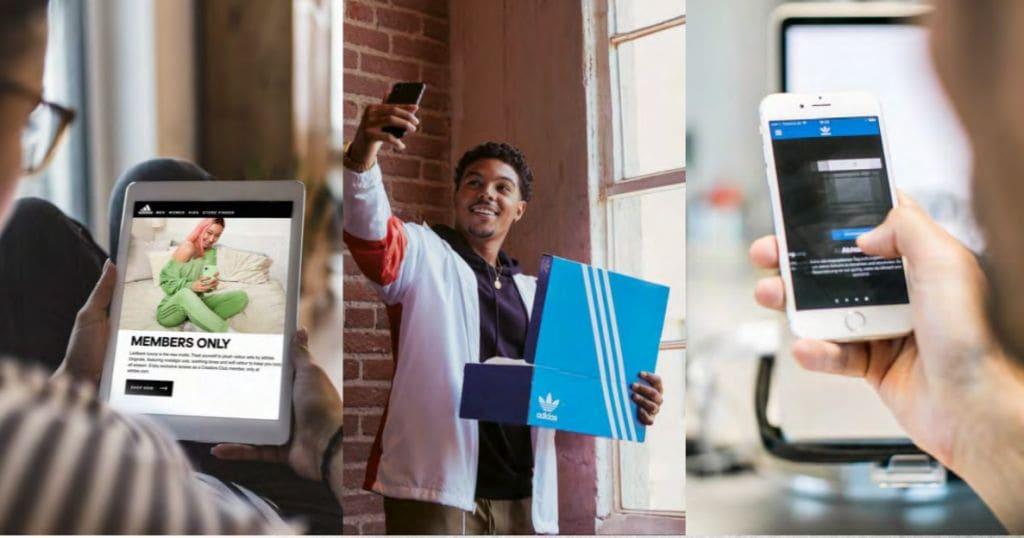 아디다스 사용 경험을 공유하는 아디다스 회원 모습,  Image from Adidas