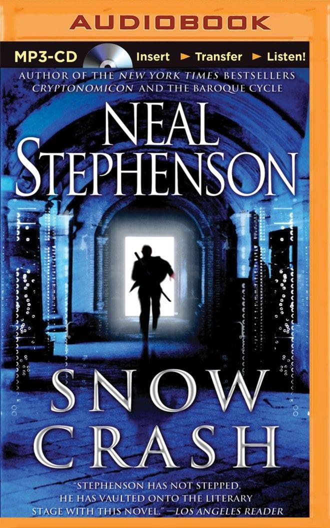 닐 스티븐슨(Neal Stephenson)이 공상 과학 소설 '스노우 크래쉬(Snow Crash )' 표지
