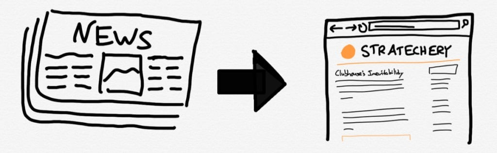 신문 인쇄에서 블로그로 변화