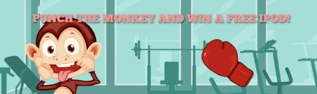 오래된 '원숭이 펀치'디스플레이 광고