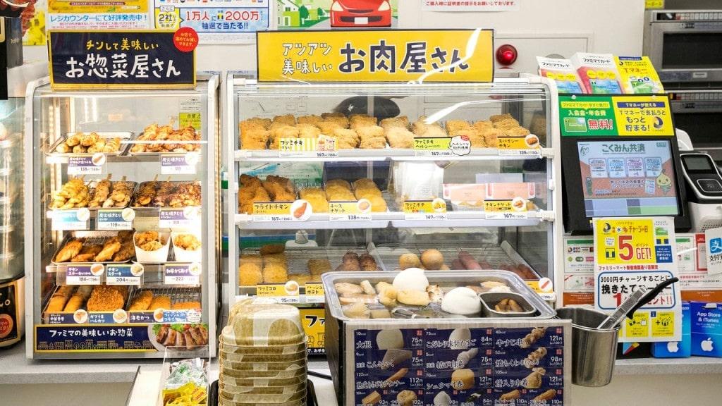 일본 편의점에 진열된 뜨거운 음식, Image from  Nippon.com