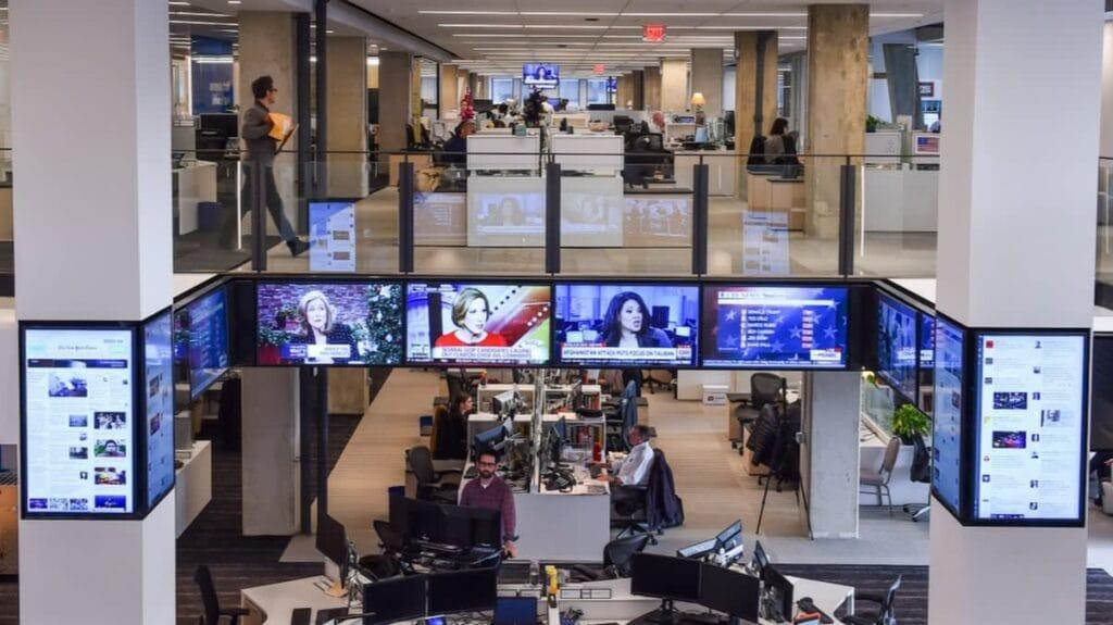 워싱턴 소재 워싱턴 포스트 뉴스룸 전경, The newsroom of the Washington Post in Washington., Photo by Ricky Carioti, Washington Post