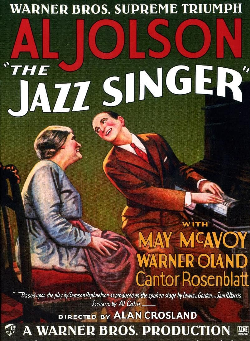 최초 유성 영화 재즈 싱어, The Jazz Singer 1927 Poster