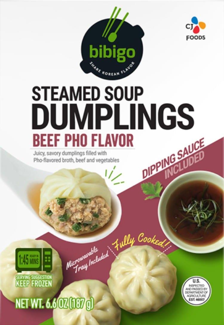 미국 두번째 상품 비비고 스팀 덤플링(bibigo Steamed Dumplings), Beef Phoi Steamed Soup Dumplings,Imager from bibigo