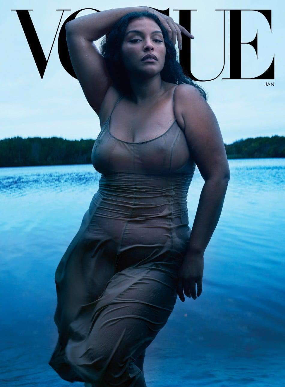 빅토리아 시크릿 브랜드 홍보대사 Paloma Elsesser가 출연한 보그 표지, VO0121 Cover Paloma