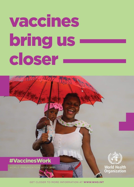 세계 보건 기구 백신 캠페인 포스터,  WHO Vaccine Campaign Poster English