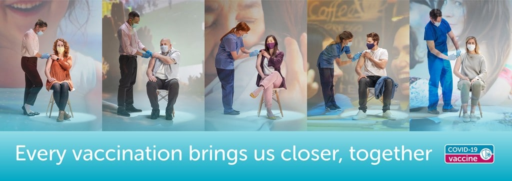 영국 백신 캠페인, Every vaccination brings us closer, together, banner version