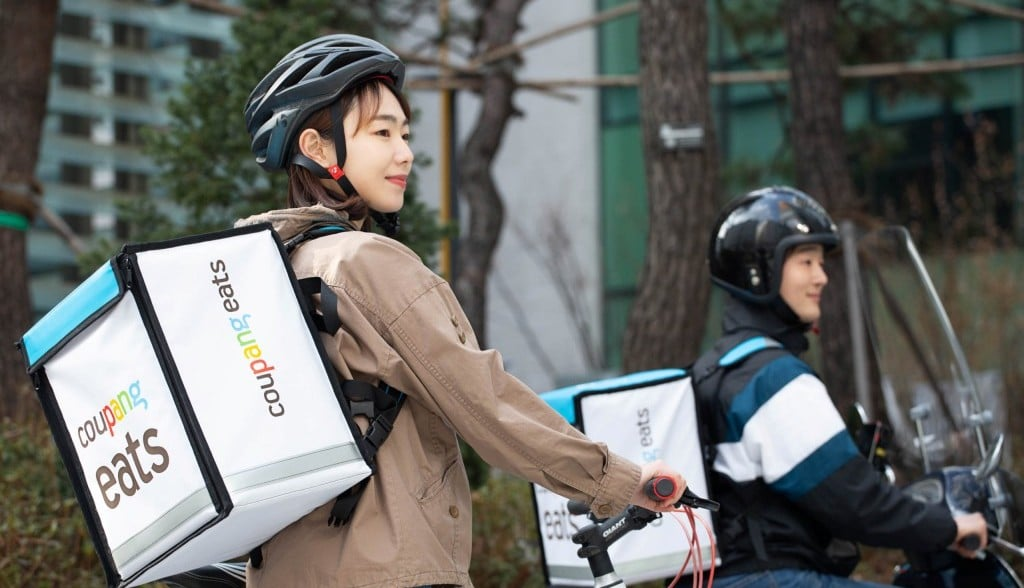 쿠팡이츠 배달사원,Coupangeats delivery, Image from Coupaneats