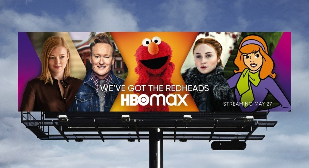 HBO Max 옥외 광고 이미지. HBO Max OOH Ad, Image from LA Times, HBO Max