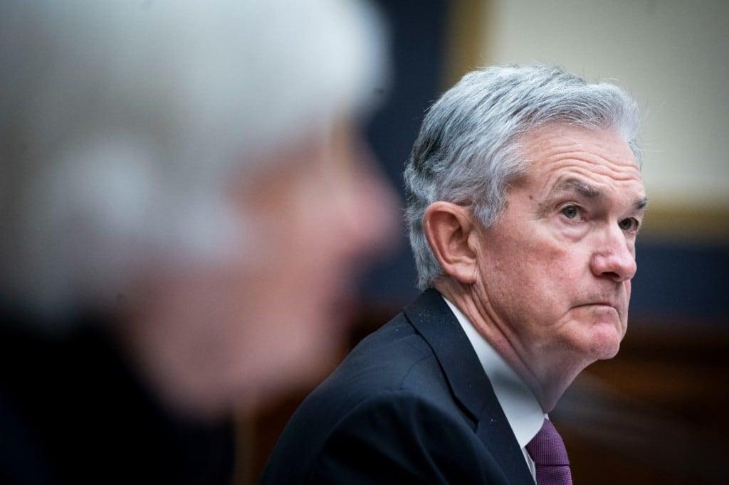 제롬 파월 이 면준 의장, Federal Reserve Chair Jerome Powell, Photo by Al Drago via AP